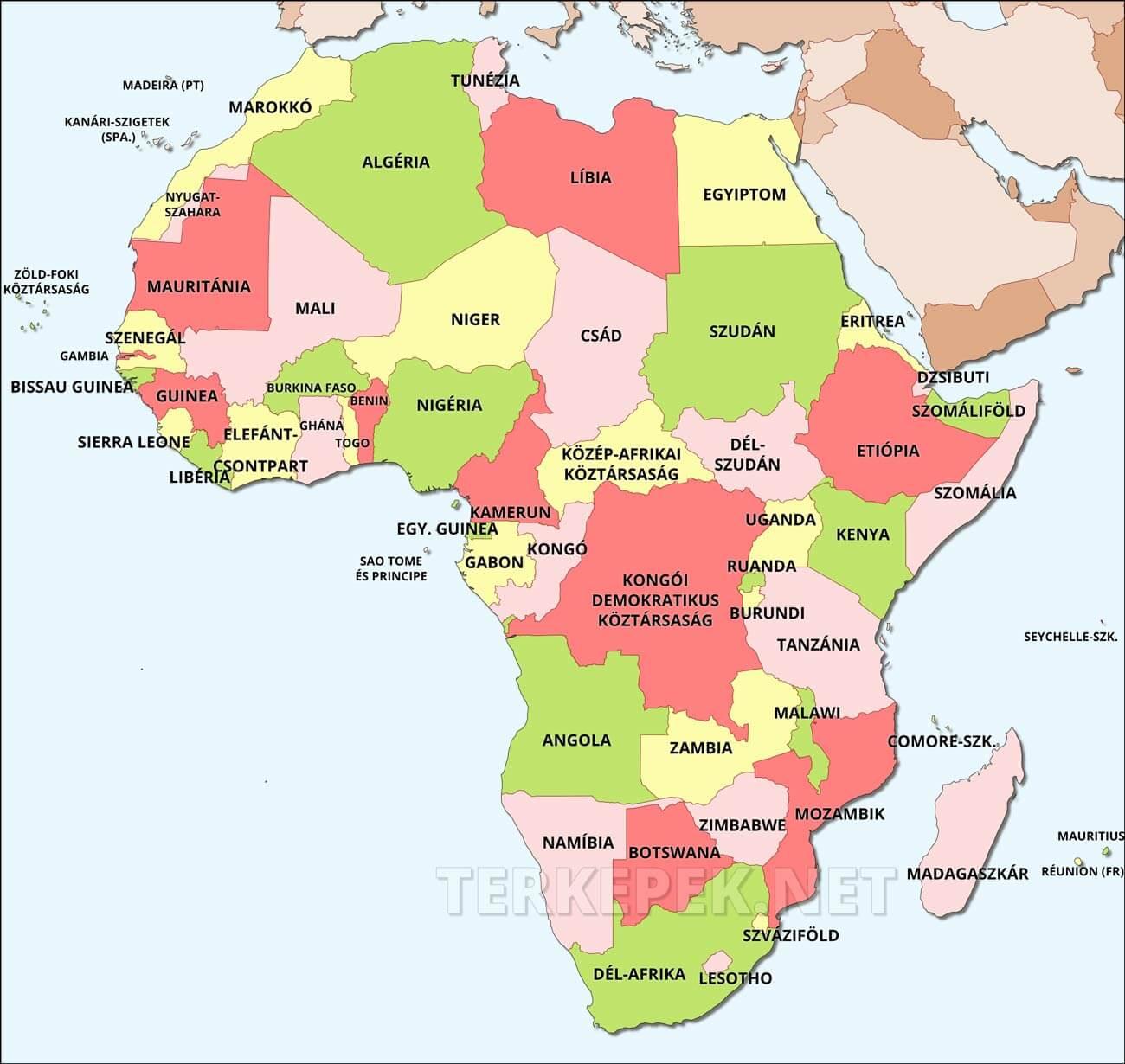 Afrika Terkep